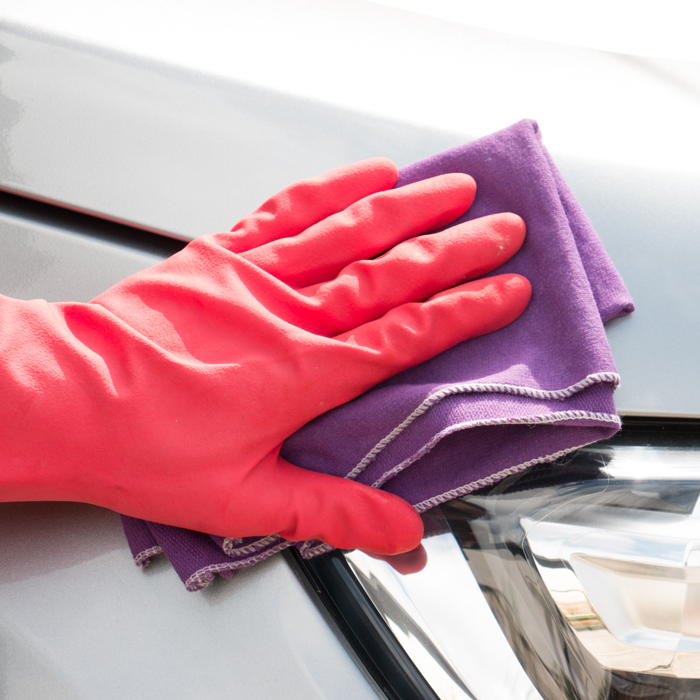 Red Disposable Gloves