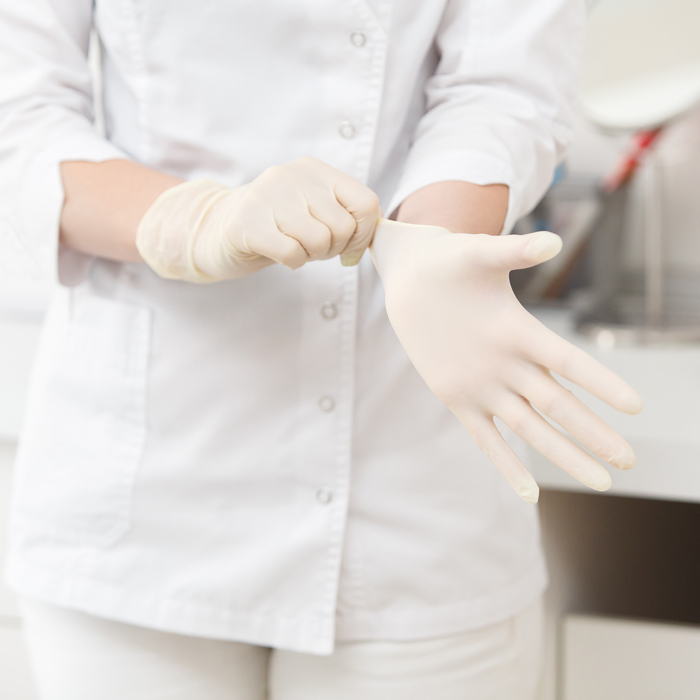 White Disposable Gloves