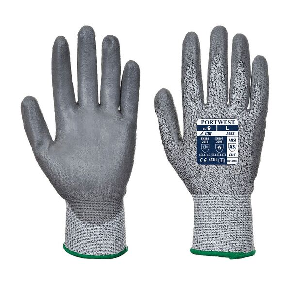 Portwest A622GR PU Palm-Dipped Handling Gloves