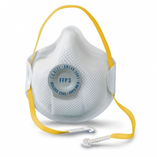 Moldex Smart 2505 FFP3 Disposable Dust Mask with Ventex Valve (Pack of 10)