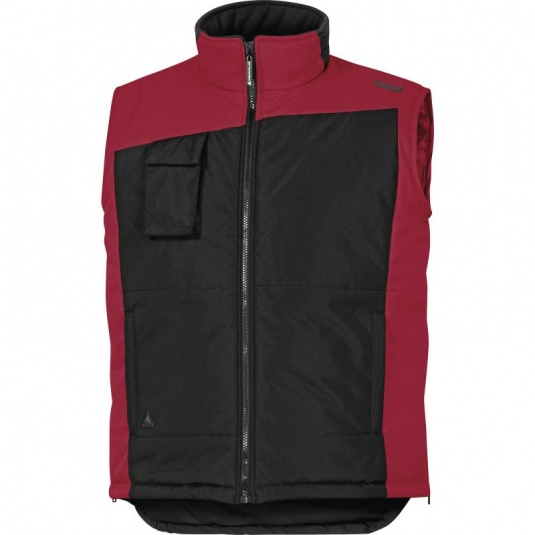 Delta Plus FIDJI2 Thermal Fleece Black and Red Work Vest
