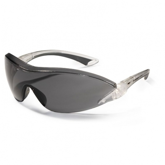 JSP Falcon Smoke-Tinted Frameless Anti-Scratch/Fog Safety Glasses
