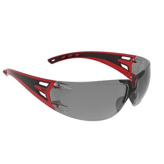 JSP ForceFlex 3 Red/Black Smoke-Tinted Premiershield Glasses