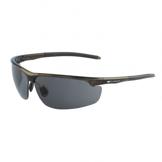 JSP Leone Brown Frame Smoke-Tinted Safety Glasses