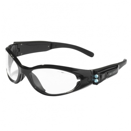 JSP Matrix Anti-Scratch/Fog Clear Safety Glasses with LED Temples