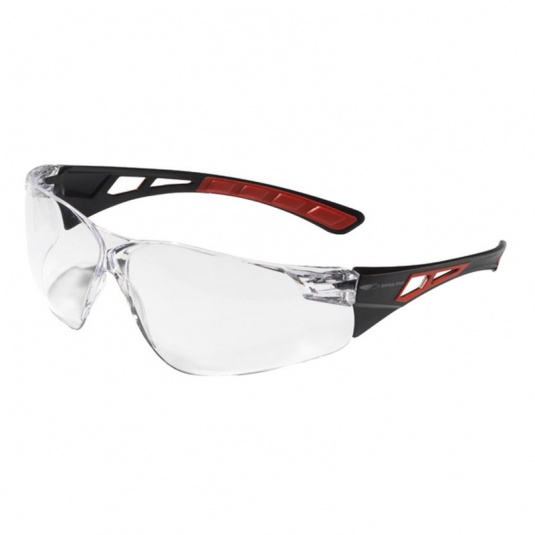 JSP Shelter Red Wraparound Clear Safety Glasses