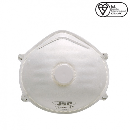 JSP FFP1 Moulded Disposable Face Mask with Valve (Box of 10)