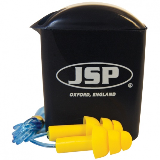 JSP Maxfit Pro Reusable Ear Plugs with Cord (Pack of 100 Pairs)
