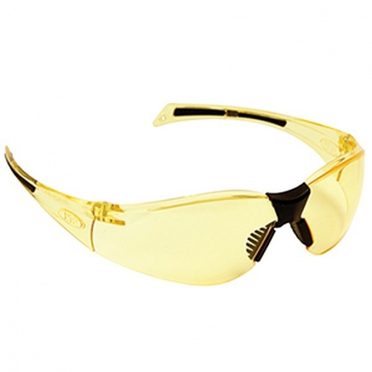 JSP Stealth 8000 Safety Glasses with Amber Anti-Scratch Lens