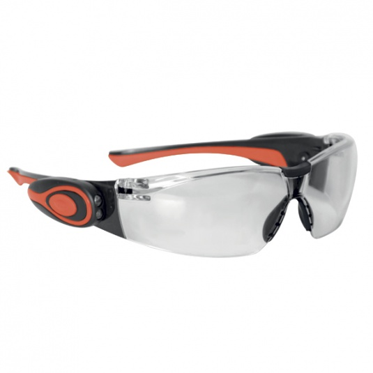 JSP Stealth 8000 Safety Glasses with Clear LED Anti-Mist Lens