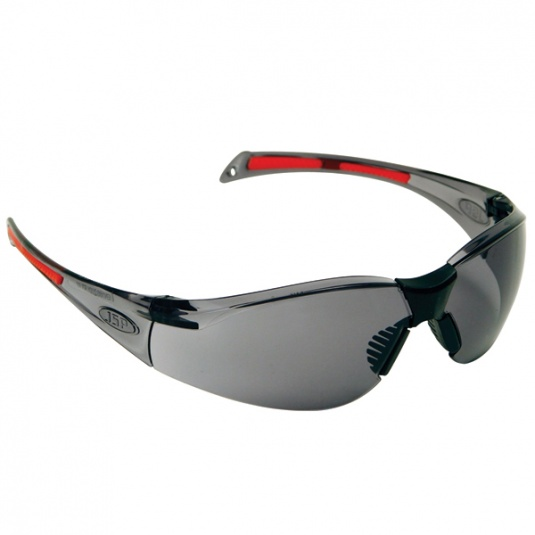 JSP Stealth 8000 Safety Glasses with Smoke Anti-Scratch Lens
