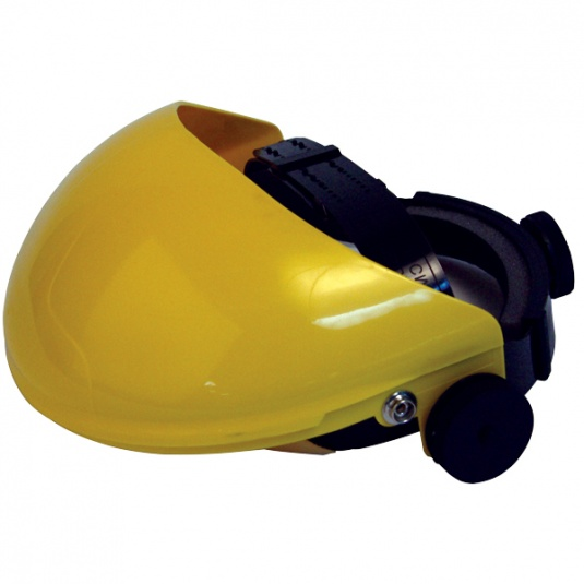 JSP Invincible Face Shield Yellow Brow Guard and Harness