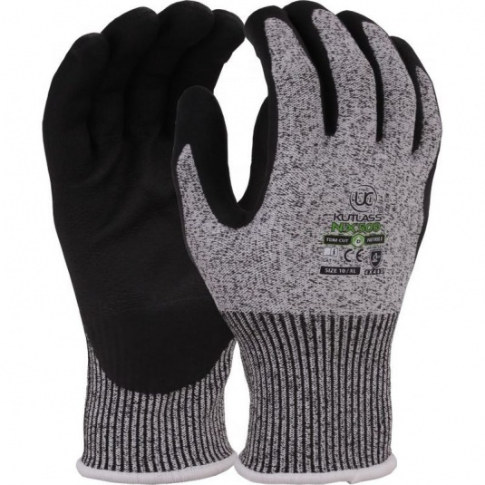Kutlass Nitrile Cut-Resistant Grip Gloves NX-500