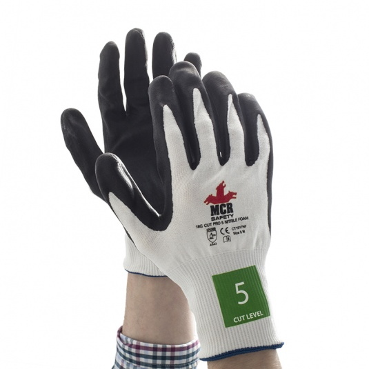 MCR Safety CT1017NF Nitrile Foam Cut Pro Safety Gloves