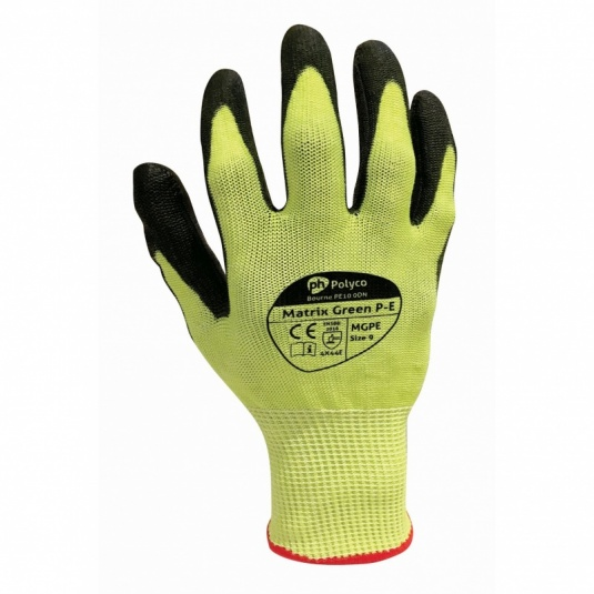Polyco MGPE Matrix Cut Resistant Green Gloves