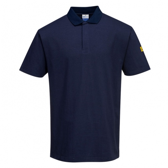Portwest AS21 Navy Anti-Static ESD Polo Shirt