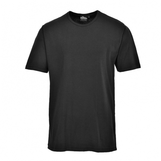Portwest B120 Black Thermal Short Sleeve T-Shirt