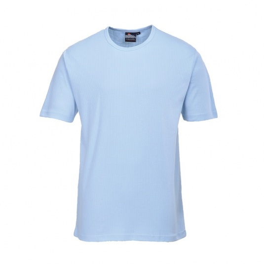 Portwest B120 Blue Thermal Short Sleeve T-Shirt