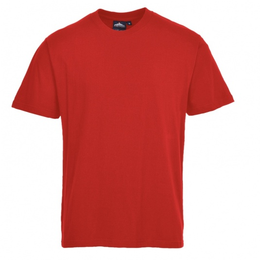 Portwest B195 Red Cotton Work T-Shirt