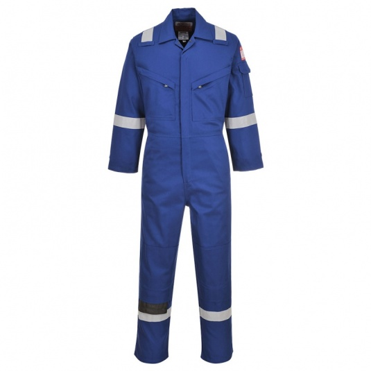 Portwest FR28 Bizflame Blue Anti-Static Lightweight Work Coveralls