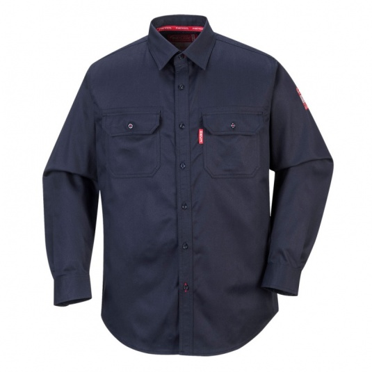 Portwest FR89 Navy Bizflame FR Electrical Shirt
