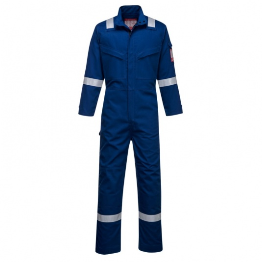 Portwest FR93 Blue Bizflame Ultra PPE Coveralls