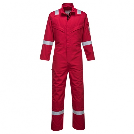 Portwest FR93 Red Bizflame Ultra PPE Coveralls