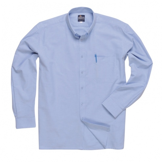Portwest S107 Blue Long-Sleeve Oxford Shirt