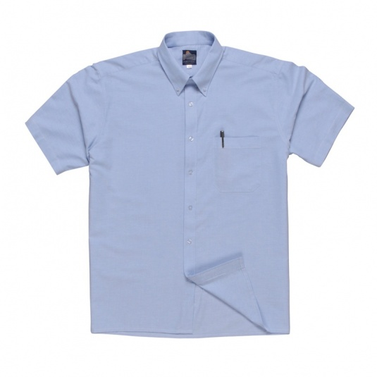 Portwest S108 Blue Short-Sleeve Oxford Shirt