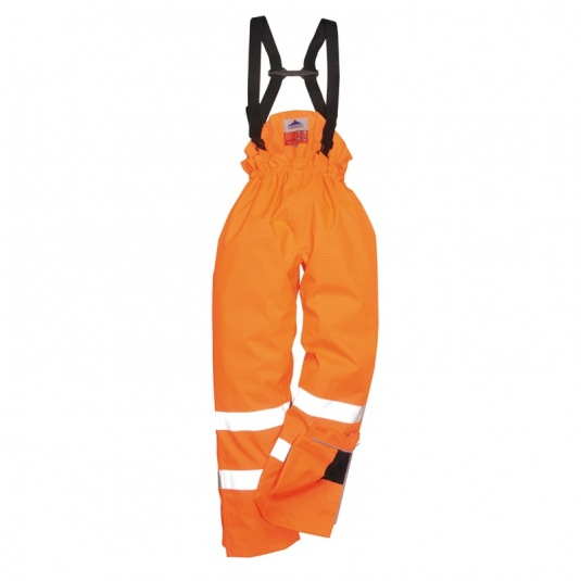 Portwest S781 Orange Bizflame Rain Lined High-Vis Flame Resistant Trousers