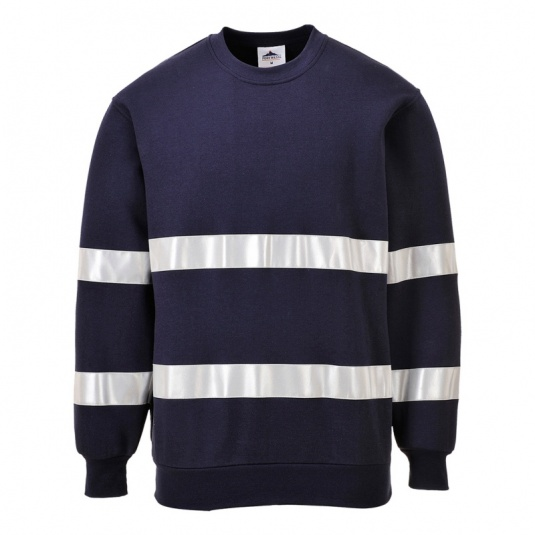 Portwest B307 Navy Iona Sweatshirt with Reflective Tape