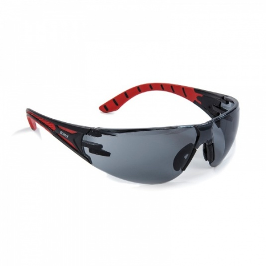 Riley Stream Red Grey-Lens Safety Glasses RLY00202