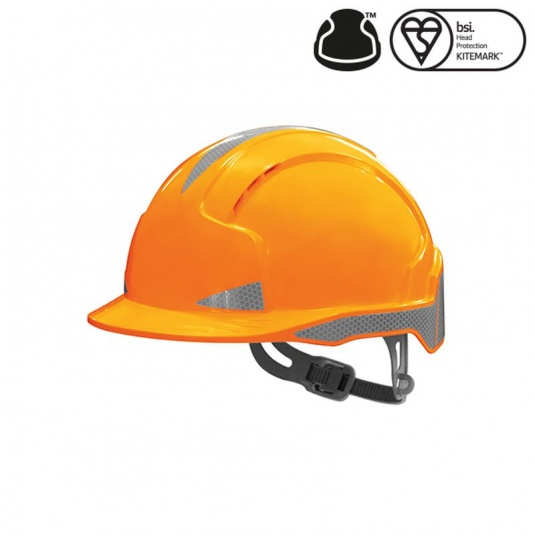 JSP EVOlite Orange Safety CR2 Hardhat with Slip Ratchet
