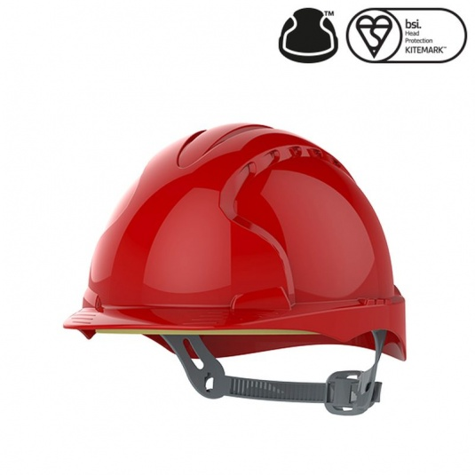 JSP EVO3 OneTouch Medium Peak Red Electrical Safety Helmet with Slip Ratchet
