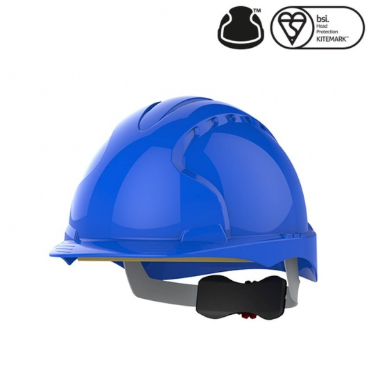 JSP EVO3 Blue Electrical Safety Helmet with Wheel Ratchet