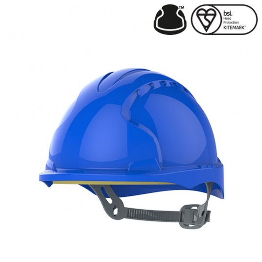JSP EVO3 Blue Electrical Micro Peak Hard Hat with Slip Ratchet