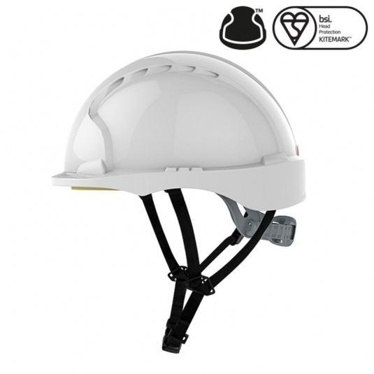 JSP EVO3 White Micro Peak Electrical Safety Helmet