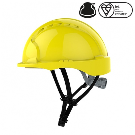 JSP EVO3 Yellow Micro Peak Electrical Safety Helmet