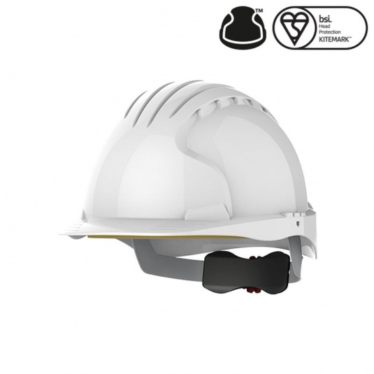 JSP EVO5 Olympus White Electrical Safety Helmet with Wheel Ratchet