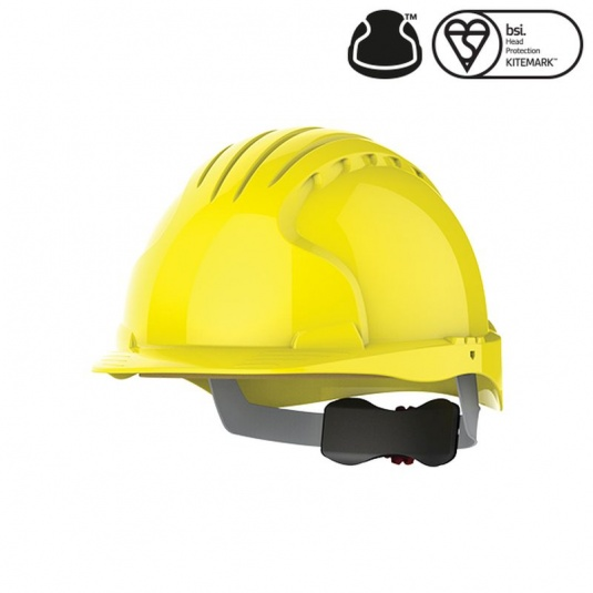 JSP EVO5 Olympus Yellow Electrical Safety Helmet with Wheel Ratchet