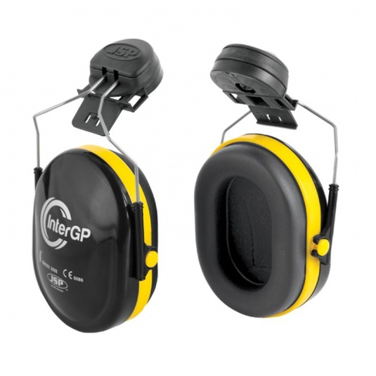 JSP InterGP Black and Yellow Ear Defenders SNR 25dB