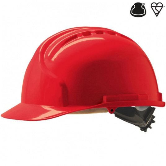JSP MK7 Red Electrical Safety Helmet