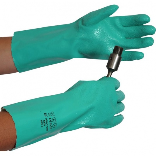 Heavy Grip A930 Nitrile Chemical-Resistant Gauntlets