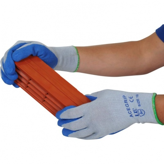 AceGrip Blue General Purpose Lightweight Latex-Coated Gloves