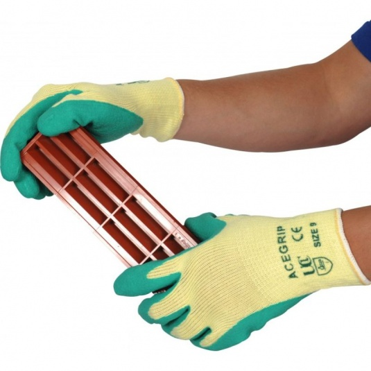 AceGrip Green General Purpose Lightweight Latex-Coated Gloves