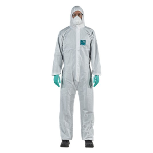Ansell AlphaTec 1800 Plus White Coveralls with Hood 111