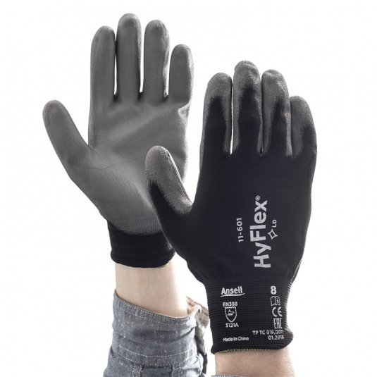 Ansell HyFlex 11-601 Nitrile Palm Precision Work Gloves