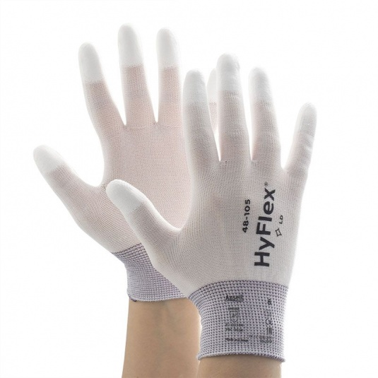 Ansell HyFlex 48-105 PU Fingertip Light Work Gloves
