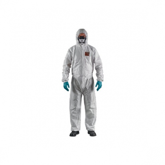 Ansell AlphaTec 1600 Plus White Coveralls with Hood 111