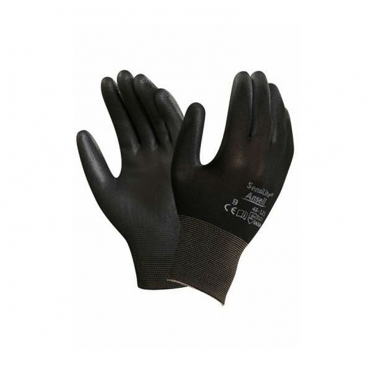 Ansell Sensilite 48-121 Lightweight Black Utility Gloves